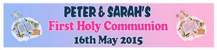Personalised Boy & Girl First Communion Banner Design 1